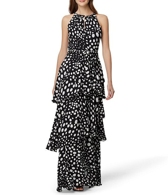 Black and white maxi dress for formal wedding