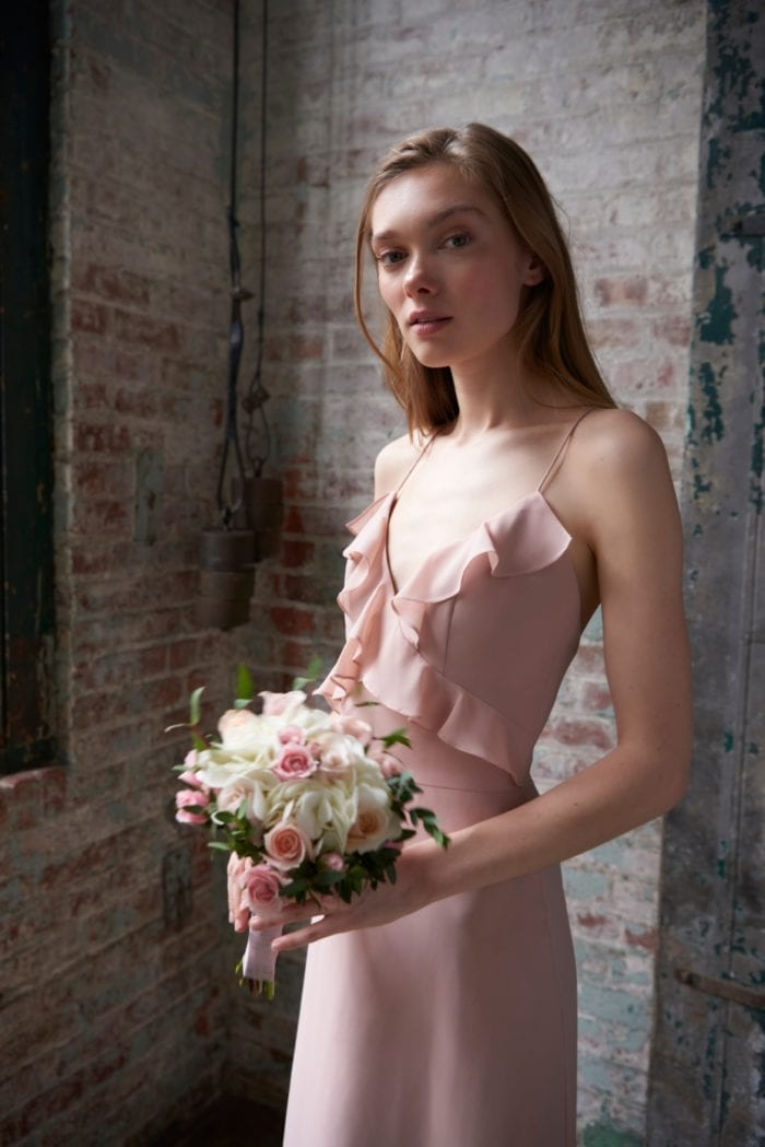Ruffled bridesmaid dress | Fayre Dress Monique Lhuillier Bridesmaids