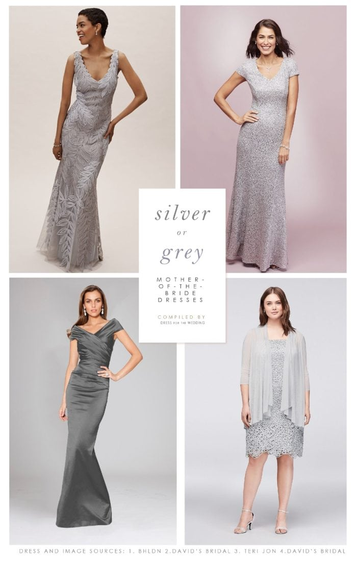Silver and Grey Mother of the Bride and Mother of the Groom Dresses