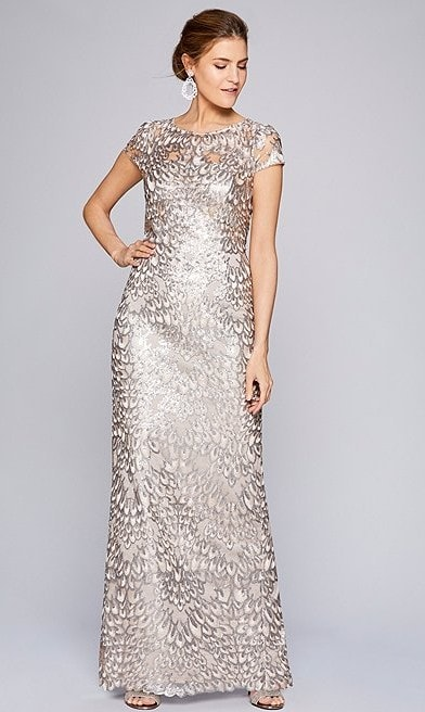 Sequined and Beaded Gowns for the Mother of the Bride