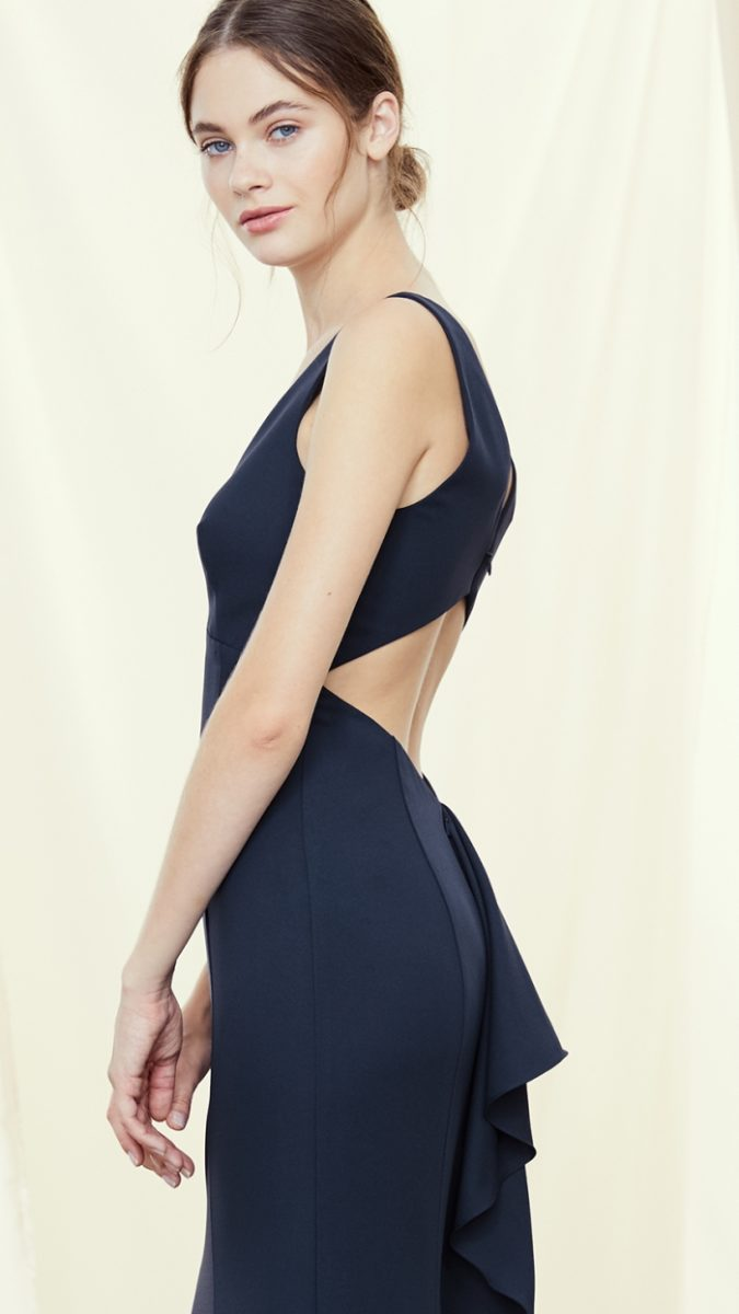 Back cut out Amsale Gwyneth Gown