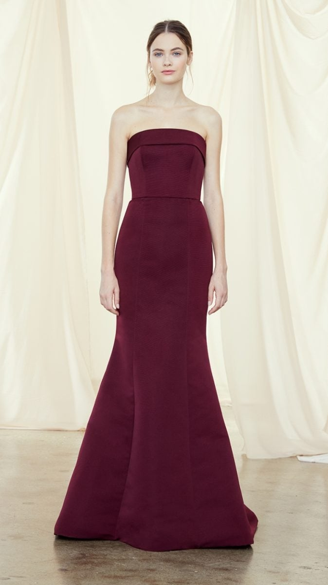 Strapless bridesmaid dress Fall 2019 Amsale