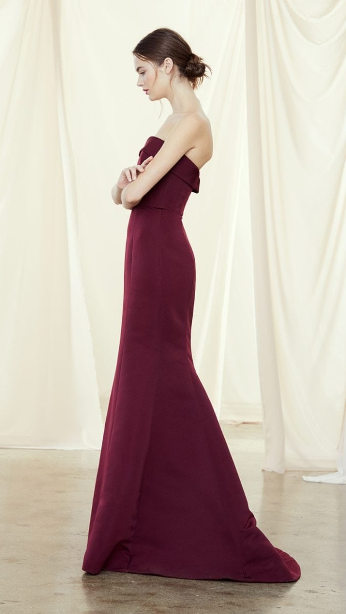 Chic strapless bridesmaid dress