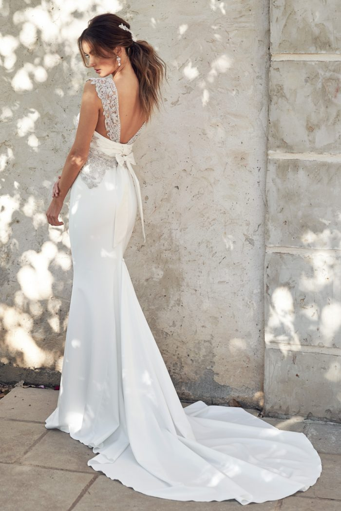 Crepe Wedding Dress