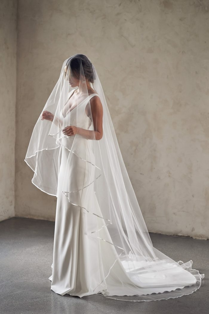 Chapel length wedding veil by Anna Campbell