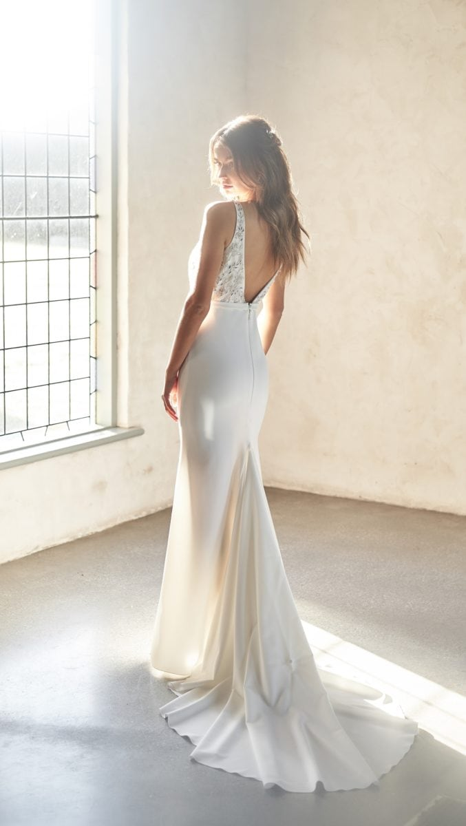 Indigo Gown Crepe Bridal Gown