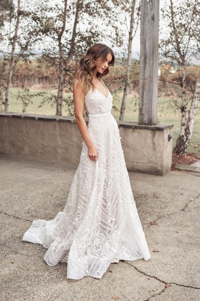 Empire style bridal gown