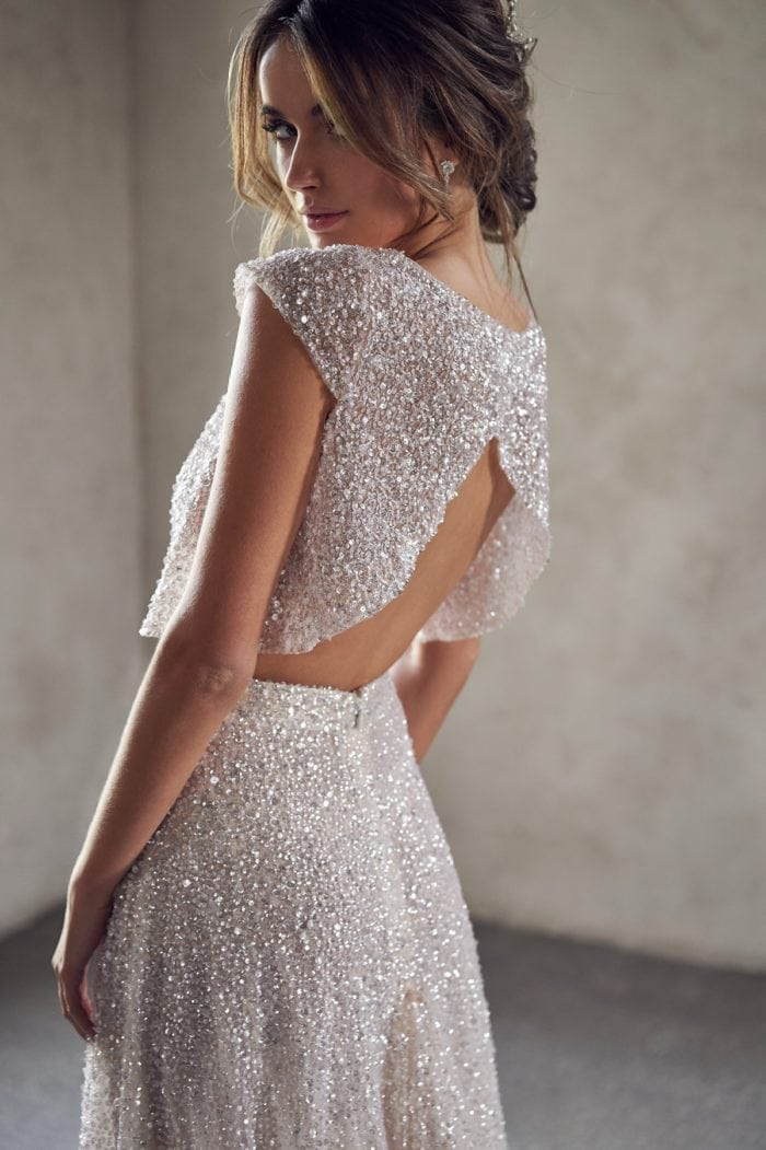 Sequin crop bridal top Anna Campbell