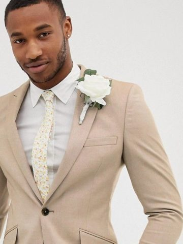 Tan suits for a weding