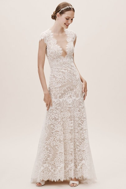 cap sleeve lace wedding dress under 2000 Philomene