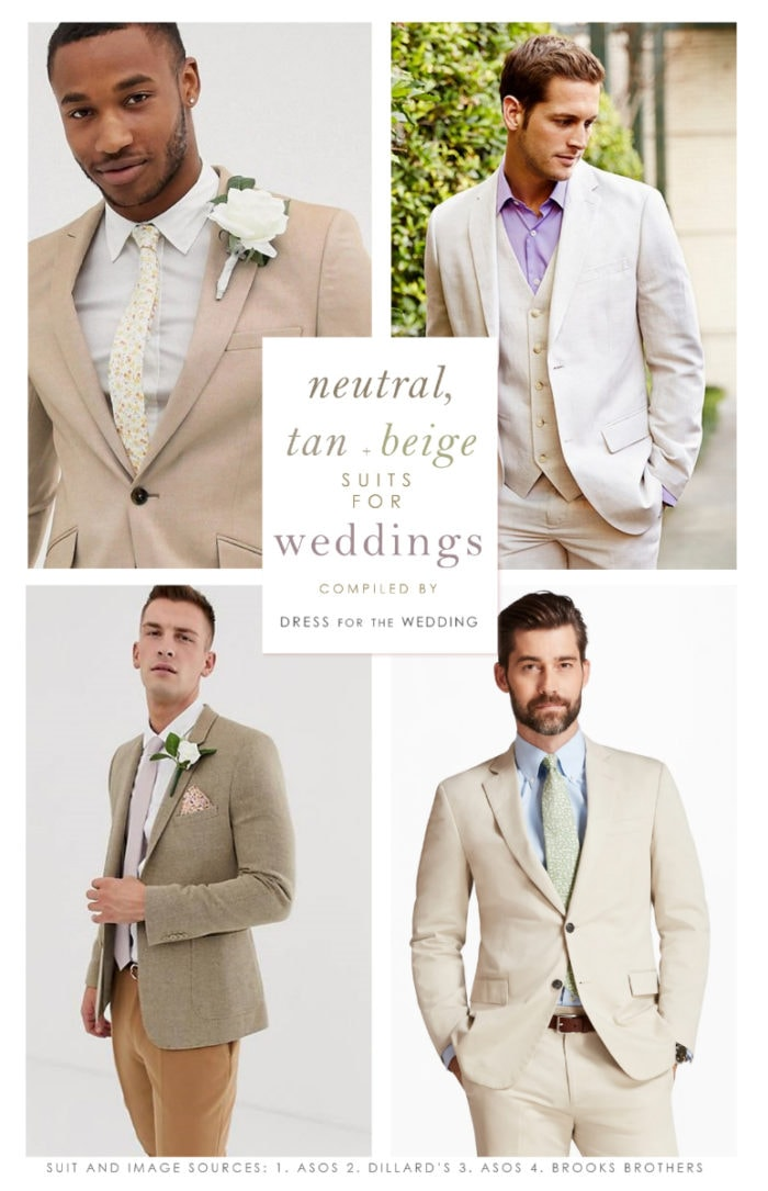 Tan Suits for Weddings