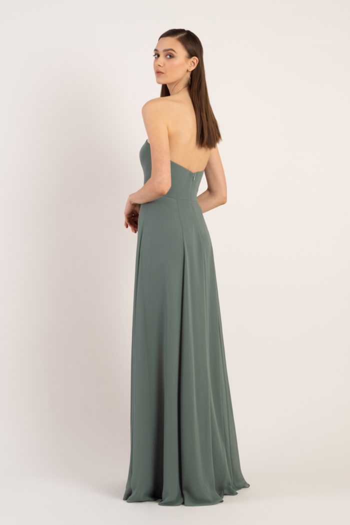 Sophisticated strapless bridesmaid dress