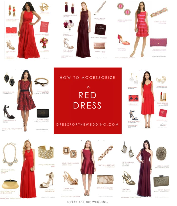 What accessories go with a red dress