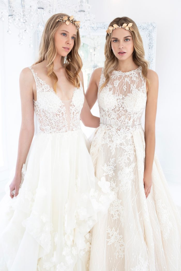 hand cut lace gowns