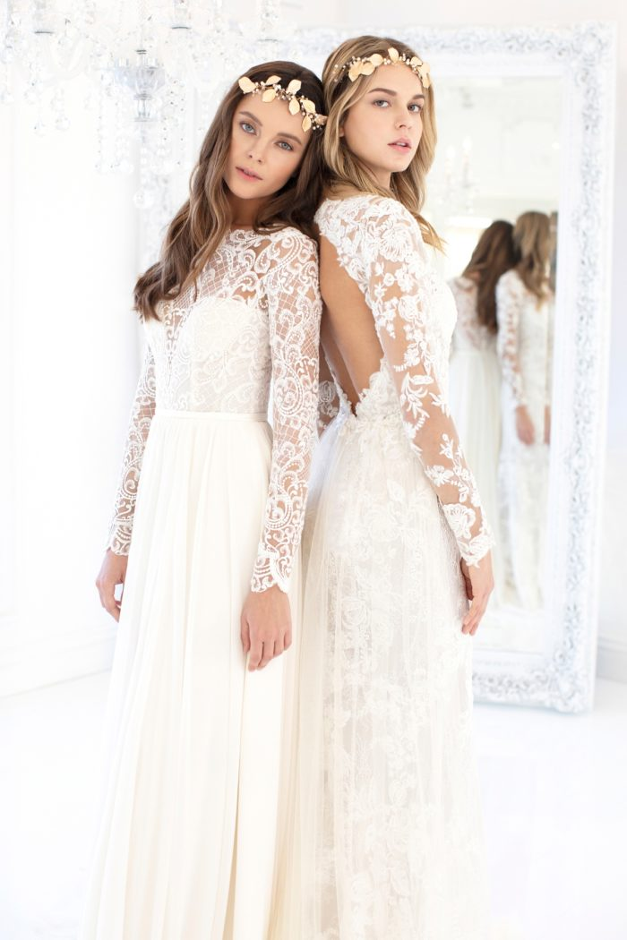 Long sleeve wedding dresses with lace