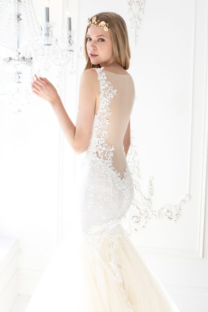 Illusion back wedding dress Winnie Couture Gown