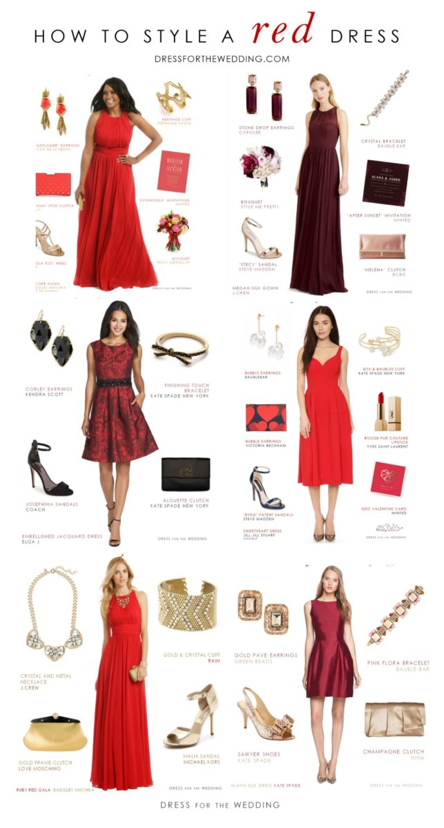 Styling ideas for a red dress