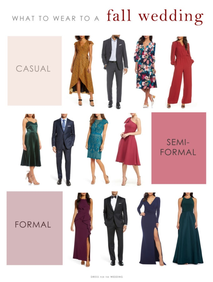 Ideas for what to wear to a fall wedding