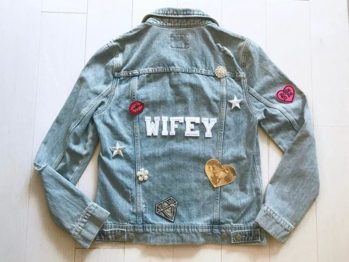 wifey denim jacket for wedding