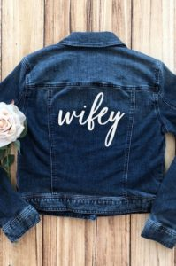 wifey transfer for denim jacket