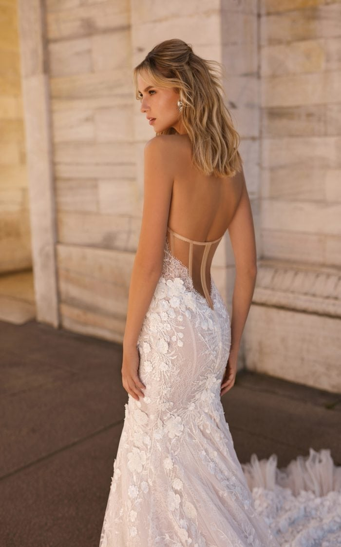Corset back bridal gown