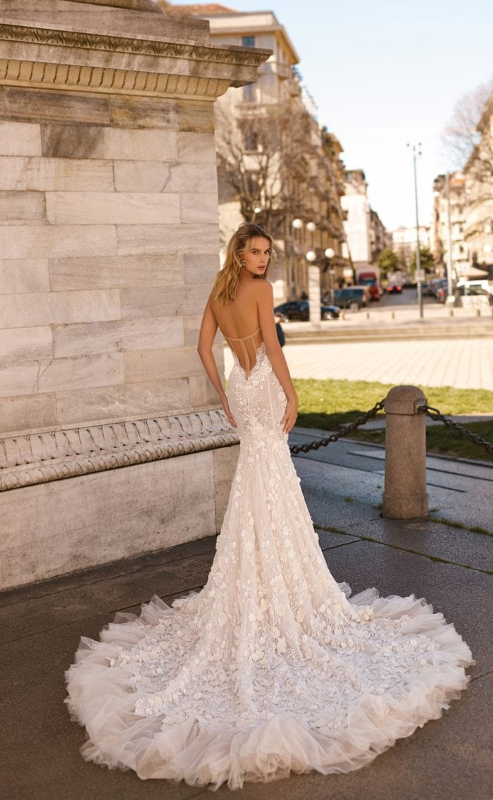 Berta Bridal Couture Tulle Hem Gown