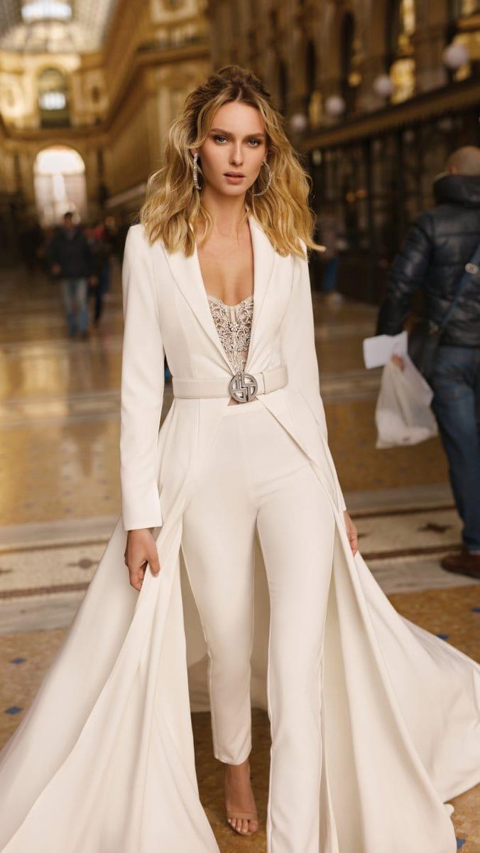 Bridal pantsuit by BERTA 2020