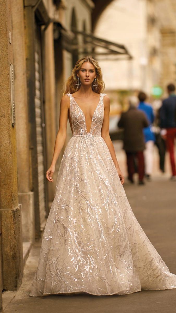 Metallic bridal ball gown by BERTA Bridal 2020