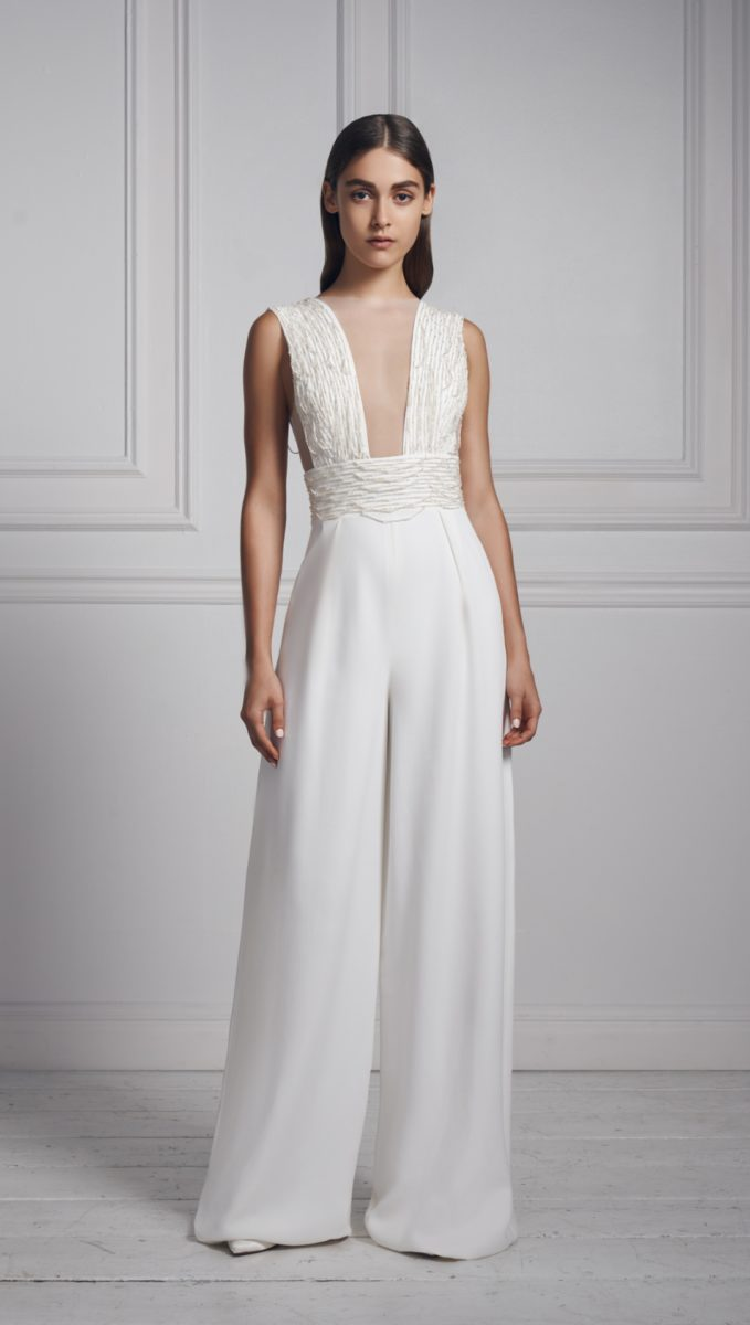 Anne Barge wideleg wedding jumpsuit