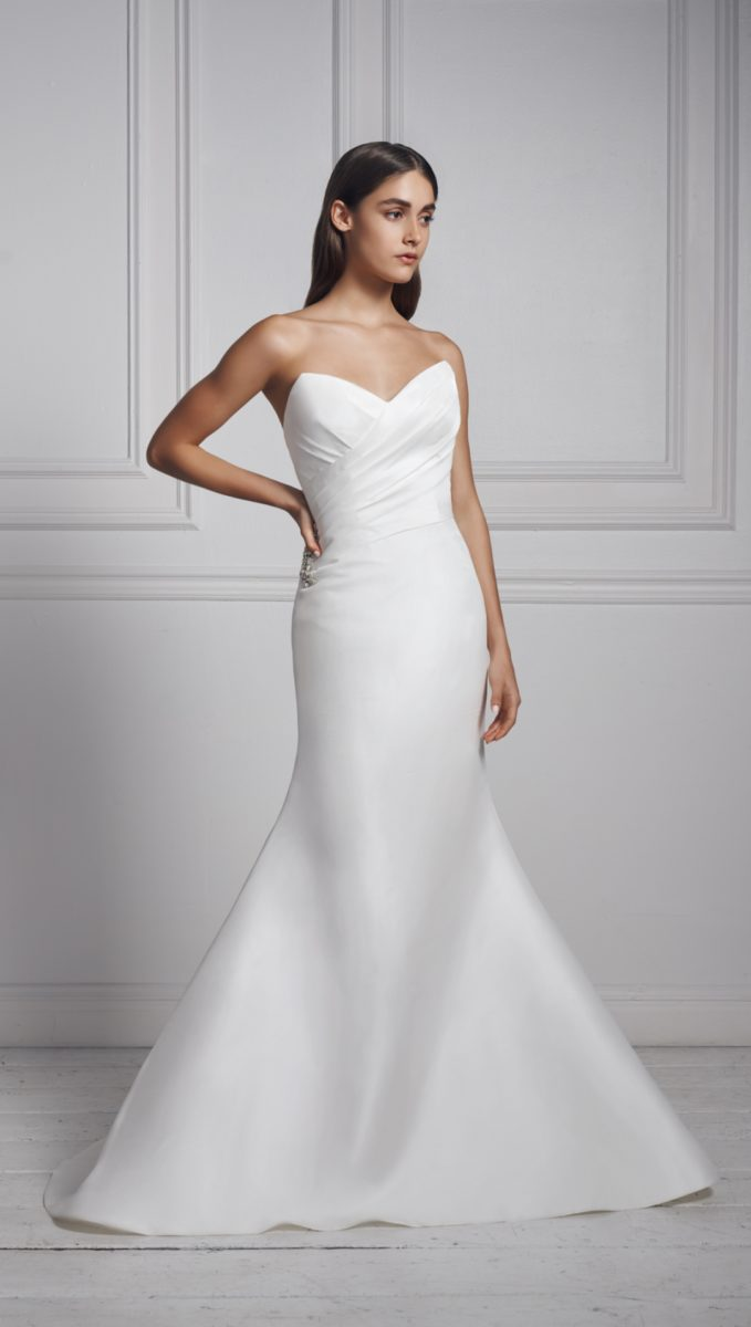 Anne Barge strapless wedding dress Fall 2020