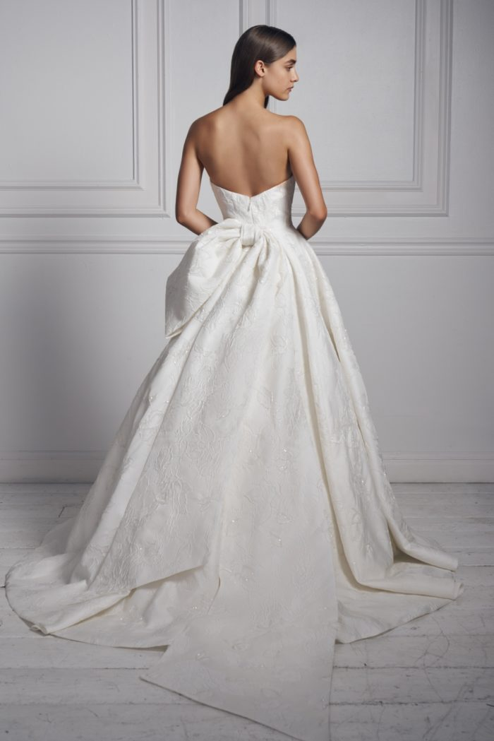 Bow back bridal gown by Anne Barge Fall 2020