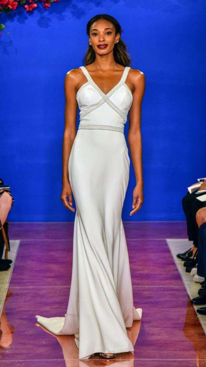 Jeweled strap wedding dress Santana