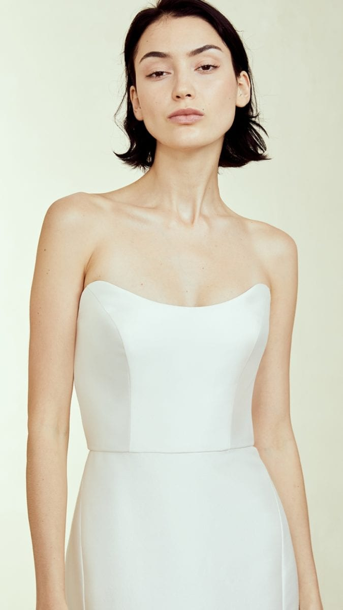 Strapless Amsale Wedding Dress Fall 2019