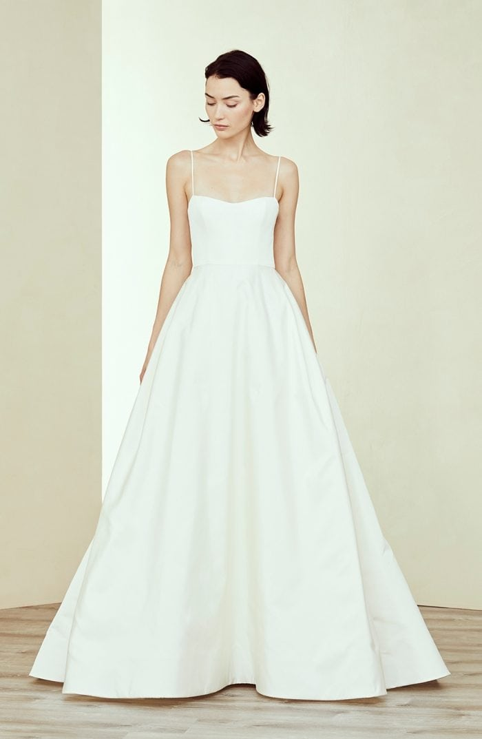 Spaghetti strap ballgown wedding dress by Amsale