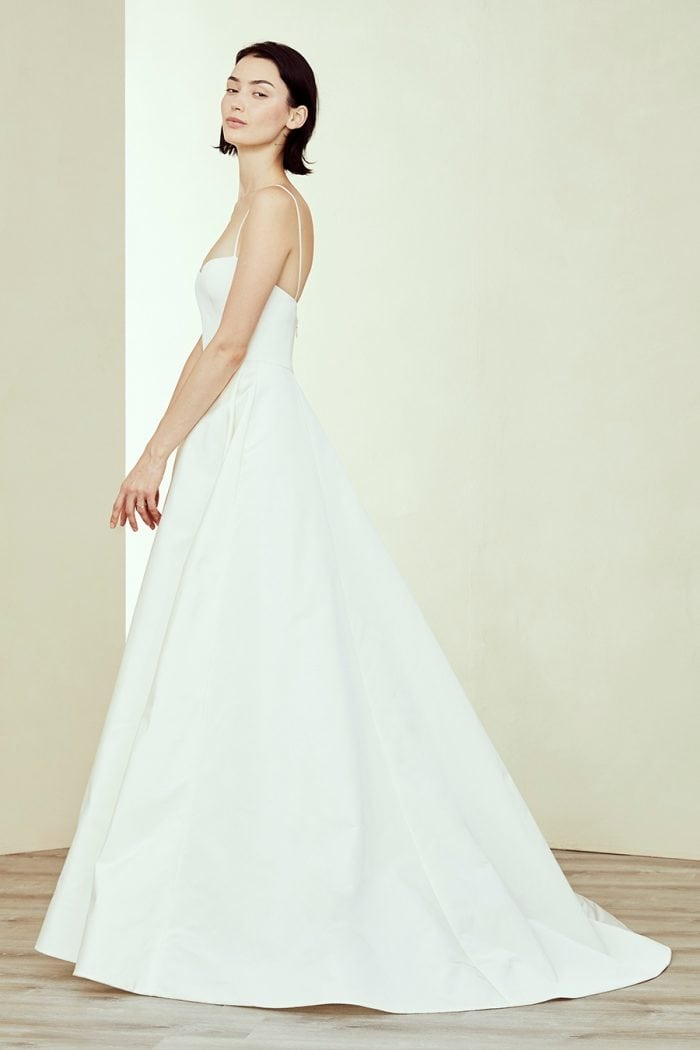 Simple ballgown bridal gown