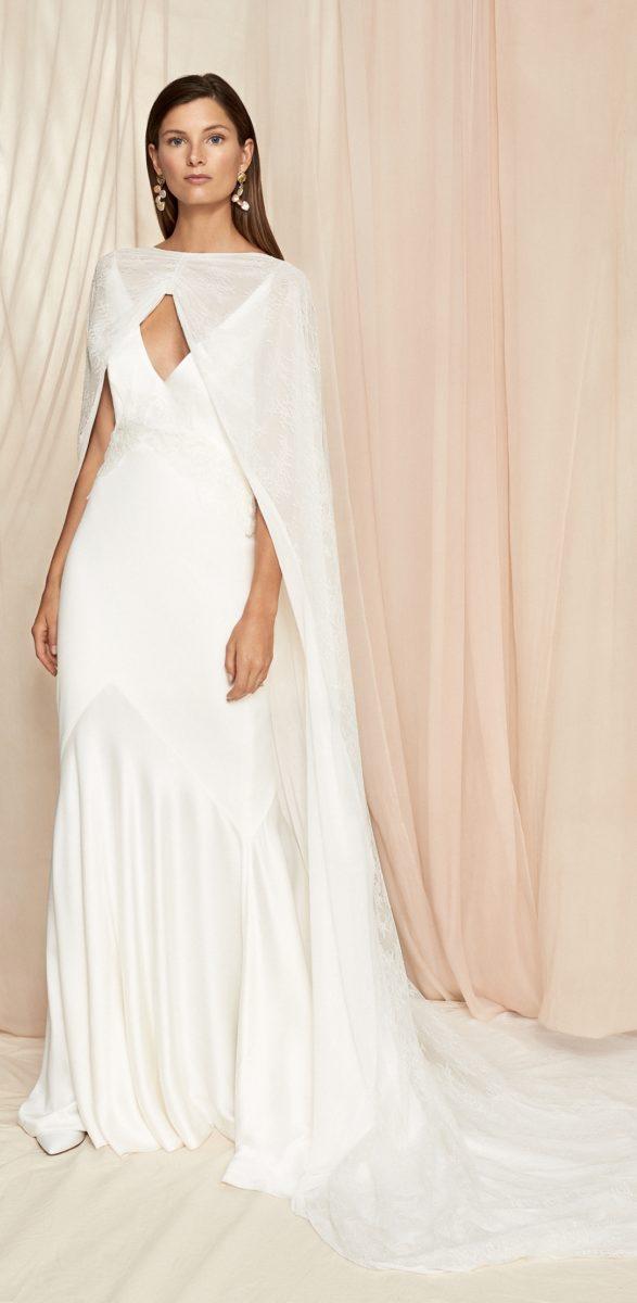 Long cape for wedding dress | Grace Savannah Miller