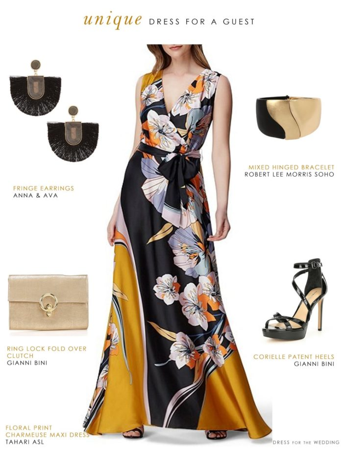 Unique dress for a wedding guest