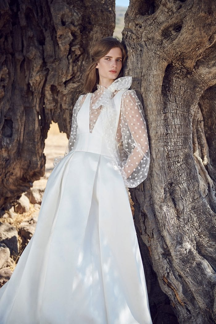 Acantha gown and Eione Blousse