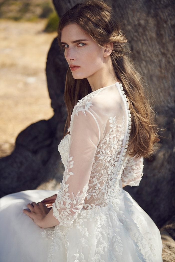 Wedding Dress with Buttons Up the Back