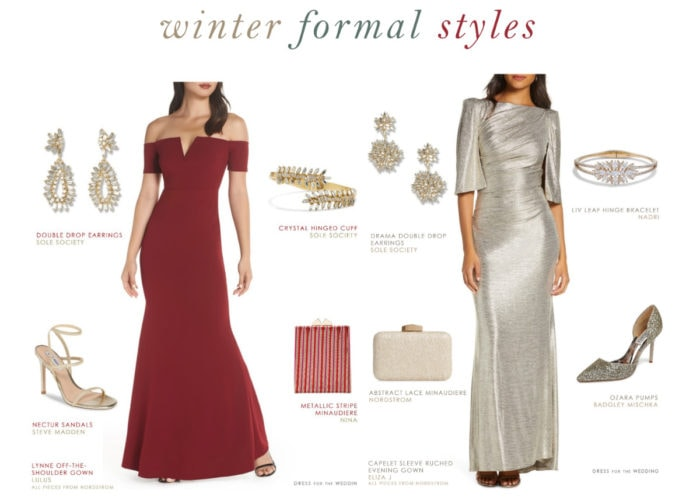 Formal evening gowns for winter