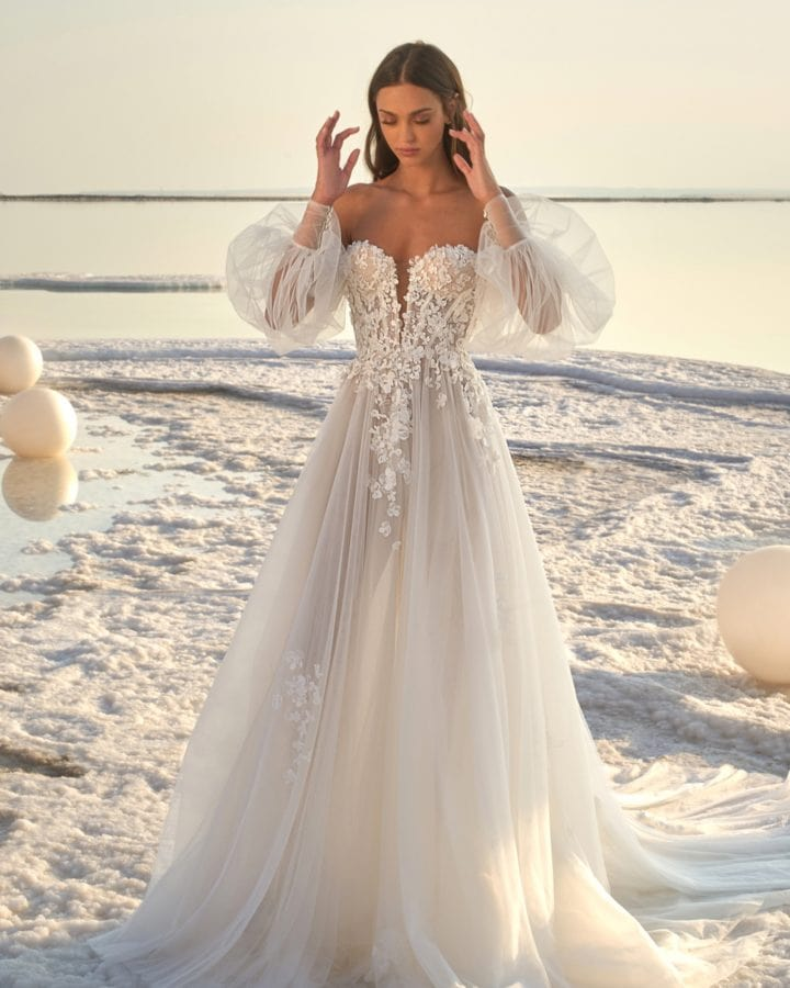 Glory Bridal Gown with Blouson Sleeves