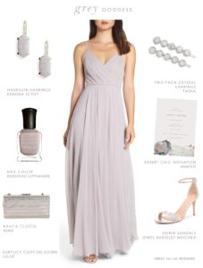 Affordable grey bridesmaid dresses