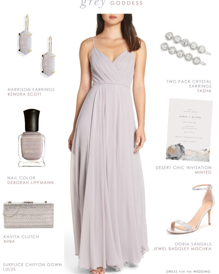 Affordable grey bridesmaid dresses