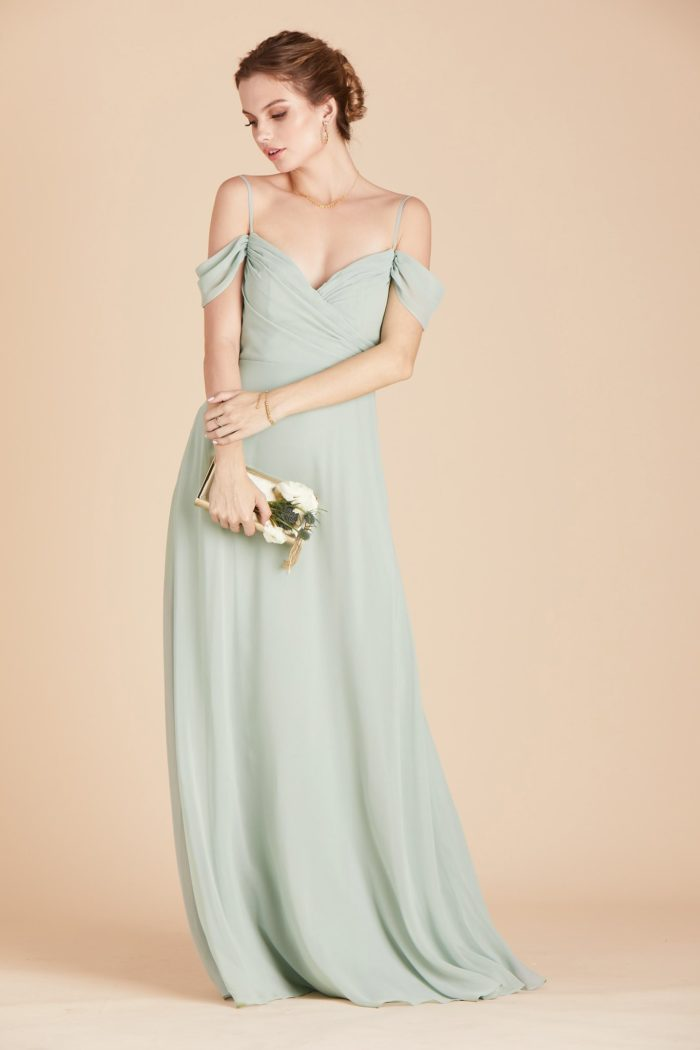 Affordable sage green bridesmaid dress
