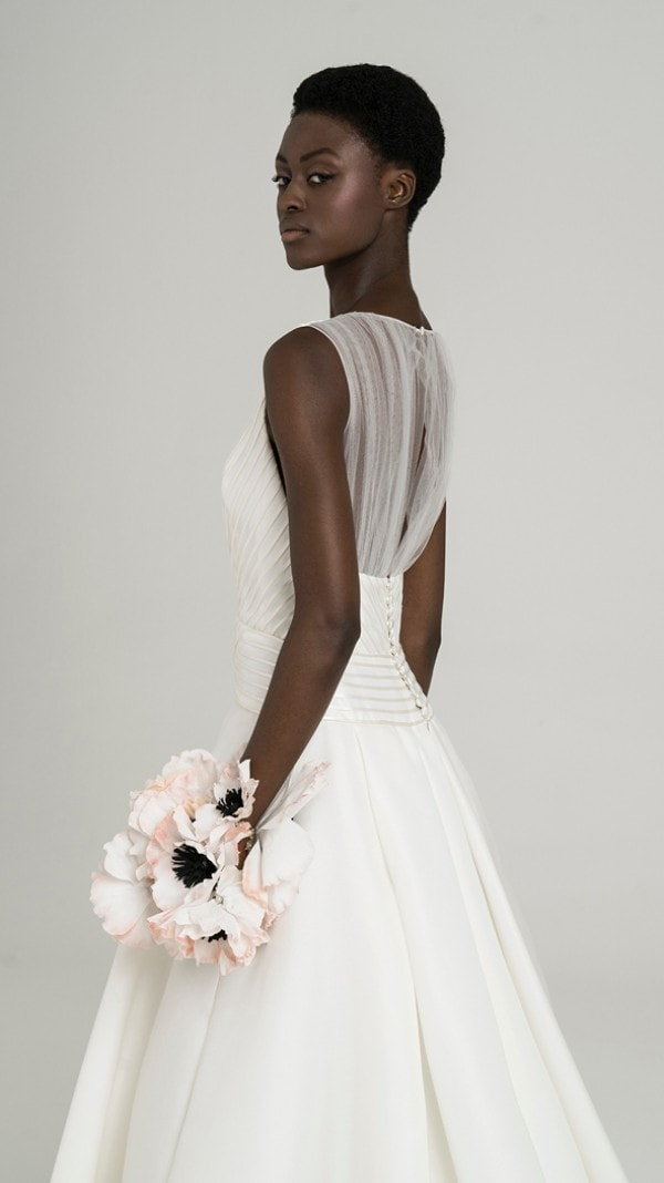 Sheer back gown Estelle Peter Langner