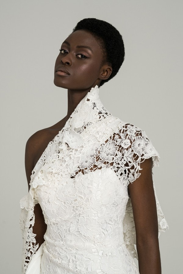 Detail of May Peter Langner Bridal Gown