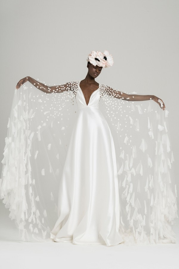 Nuvola Peter Langner Cape Wedding Dress