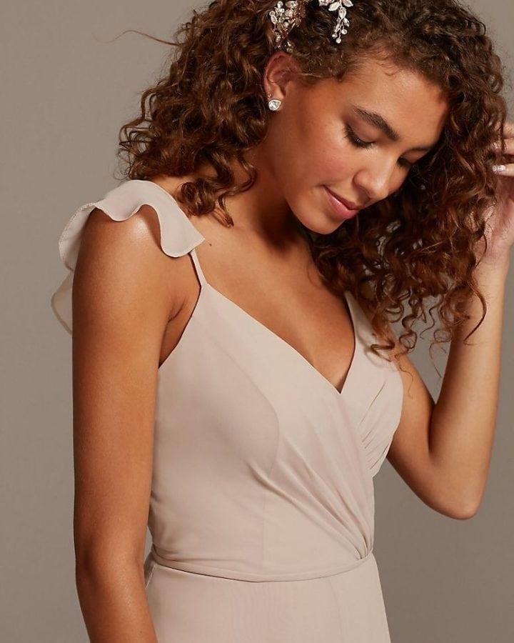 Neutral bridesmaid dress under 150