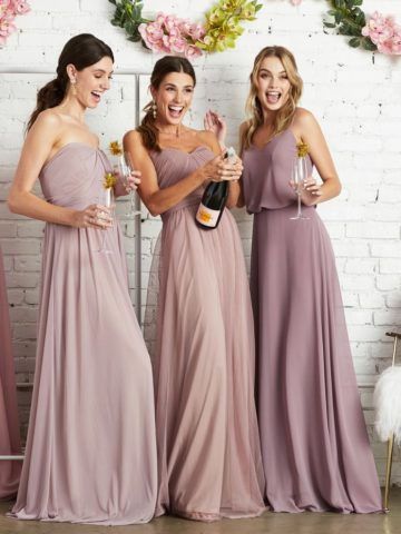 Affordable pink bridesmaid dresses