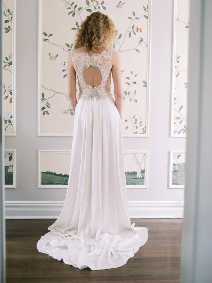 Claire Pettibone Wedding Dress with Statement Back